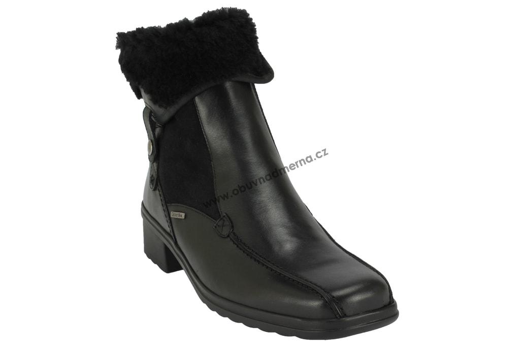 cc60066efd0 Nadměrné kotníkové boty Gabor černé 96.701.57 - Polokozačky