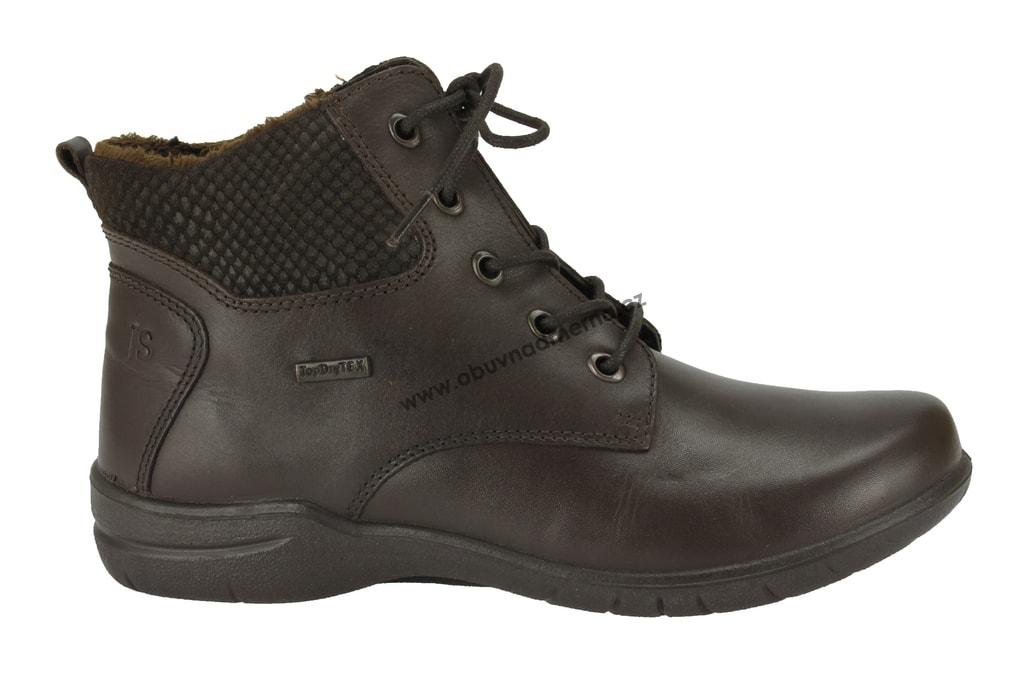 b9965444522 Kotníkové zimní boty Josef Seibel Fabienne 23 s membránou hnědé ...