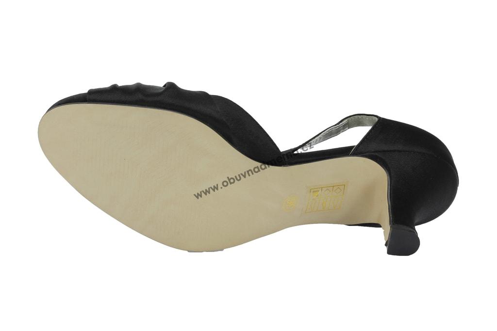 1547be8c770 Společenské páskové boty Effe Tre černé - Sandály