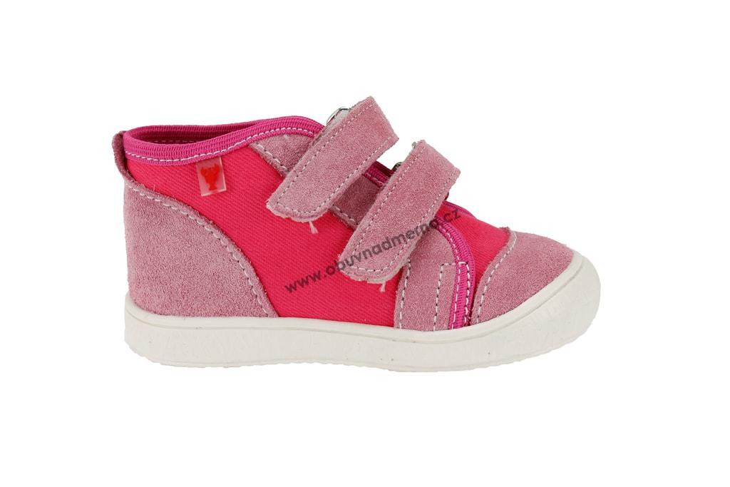 Dětské boty RAK na suchý zip růžové. Kvalitní dětská obuv. Certifikát Žirafa  ... 1e36ad6614