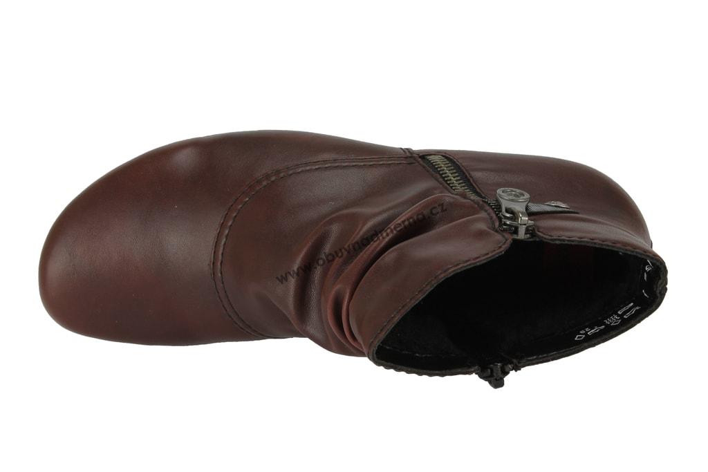 de327b2ea52 Kotníkové boty Rieker vínové Y7363-36 - Kotníkové