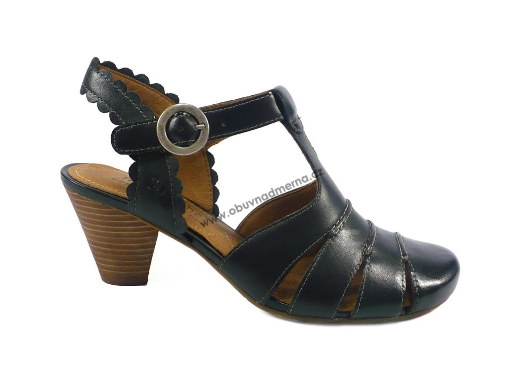 Pásková obuv Josef Seibel Sara na podpatku černá - Sandály 147b756a43
