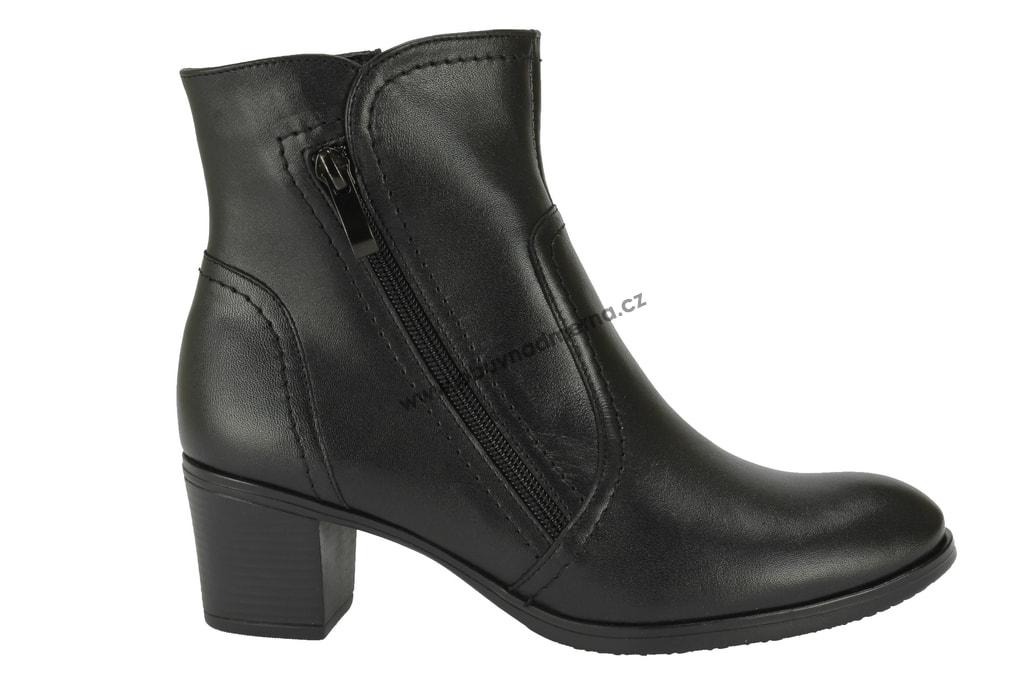 Kotníkové zimní boty Markko na podpatku černé - Kotníkové 1686f404f3