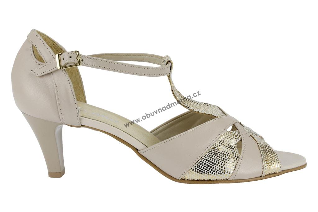 Nadměrné páskové boty De Plus krémové 9682 6067 - Sandály ... 89a5858589