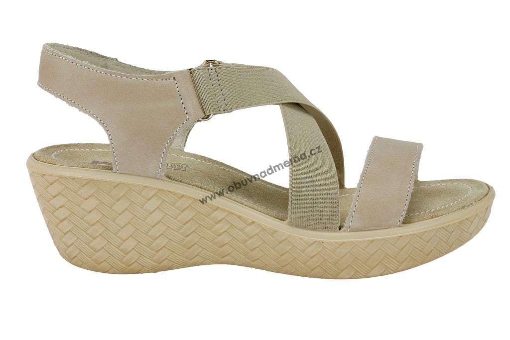 018619020e1 Páskové letní boty IMAC na klínu šedé - Sandály