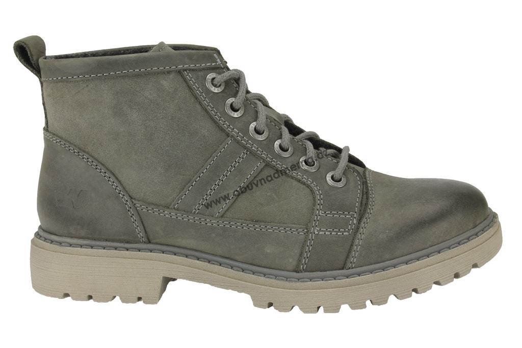 Kotníkové zimní boty Weinbrenner šedé - Kotníkové 537027ad84