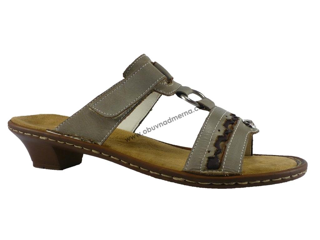 414a3026a283 Pantofle Rieker Regina na nízkém podpatku - Pantofle