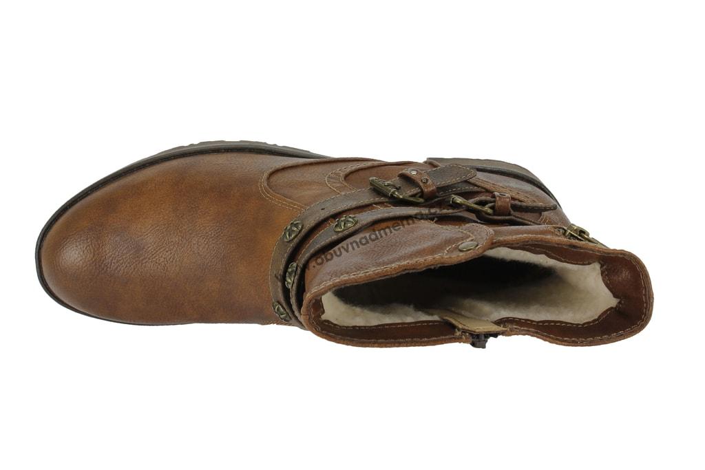 Nadměrné kotníkové boty Mustang kastanie 1284-603-301 - Kotníkové ... ea14bfc4df
