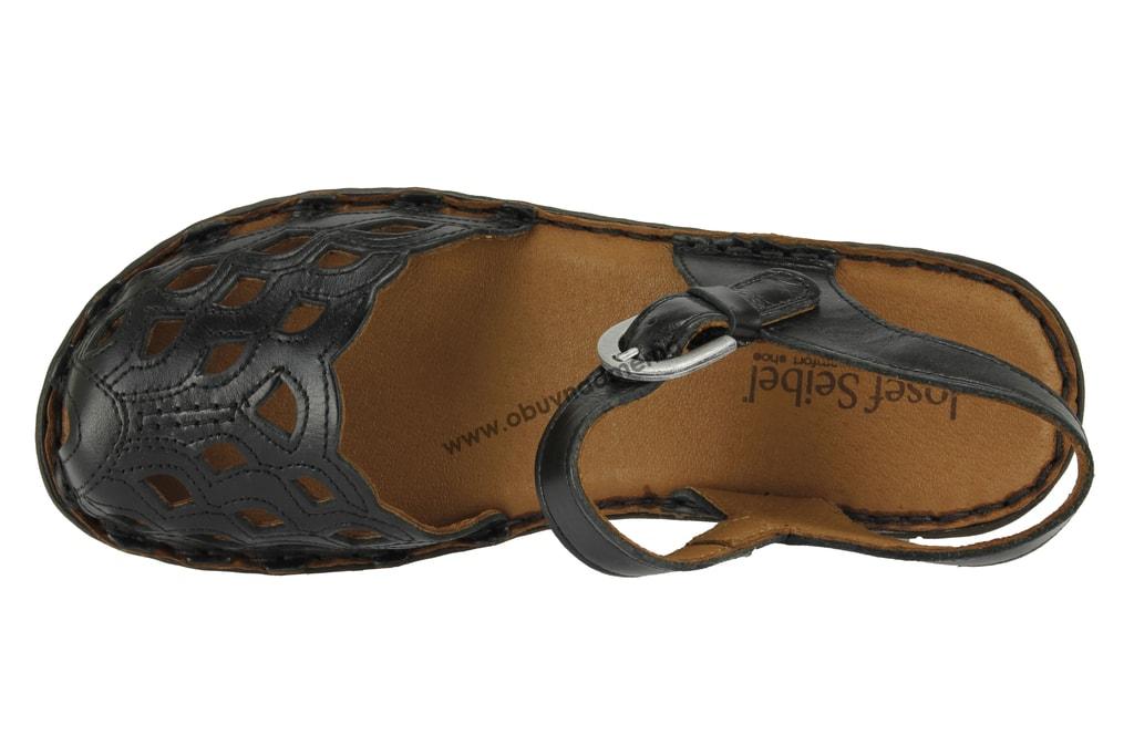 Páskové boty Josef Seibel Rebecca 17 černé 62917 43 600 - Sandály ... 86234d9120