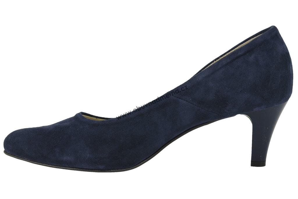 Nadměrné lodičky De Plus modré 9349 - Lodičky ced3d00592
