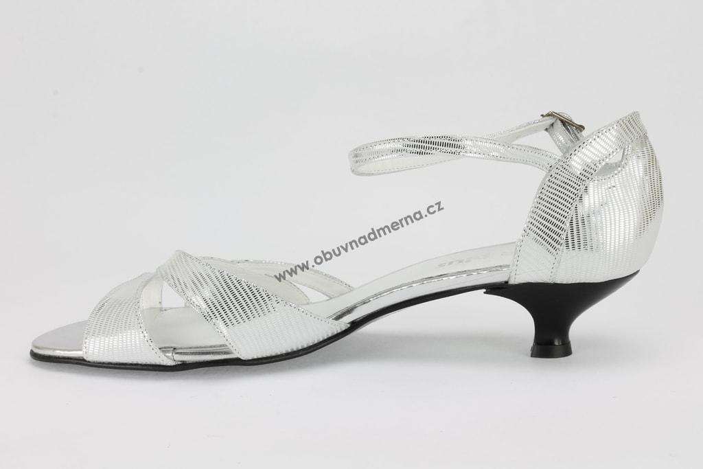 Nadměrné páskové boty De Plus stříbrné 9128 - Páskové b572164dfb