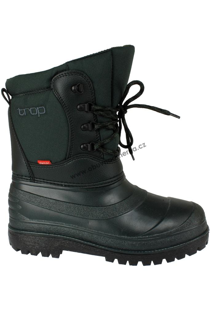 782b6869faa Vysoká zimní obuv Demar Trop s vyjímatelnou vložkou zelená - Zimní ...