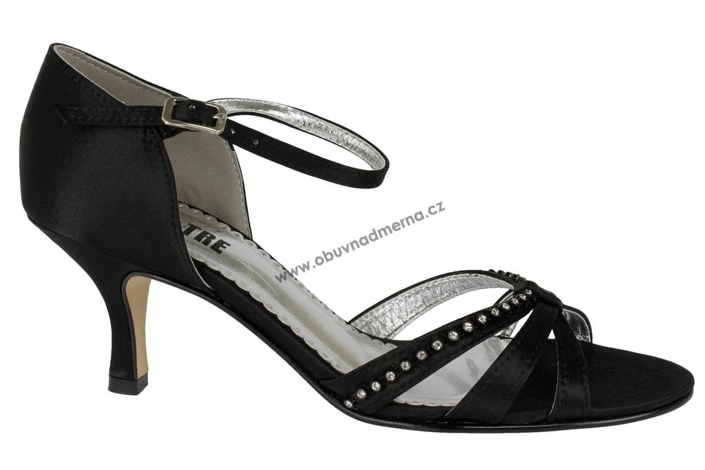 b7e9c6cf4f8 Společenská obuv Effe Tre černá. Páskové společenské boty ...