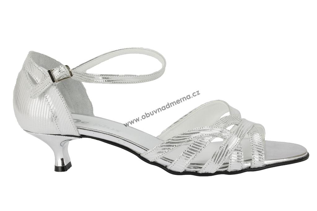 Nadměrné páskové boty De Plus stříbrné - Sandály 6742c283f6