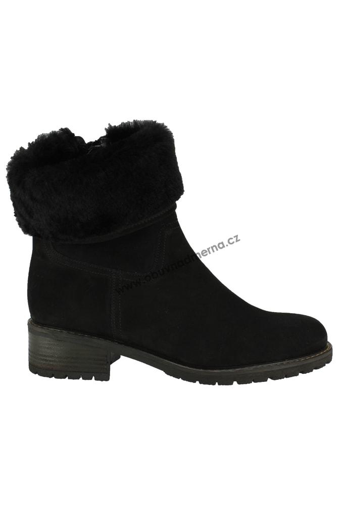 Nadměrné kotníkové boty Gabor černé 96.090.47 - Kotníkové 6d42d1fcf1