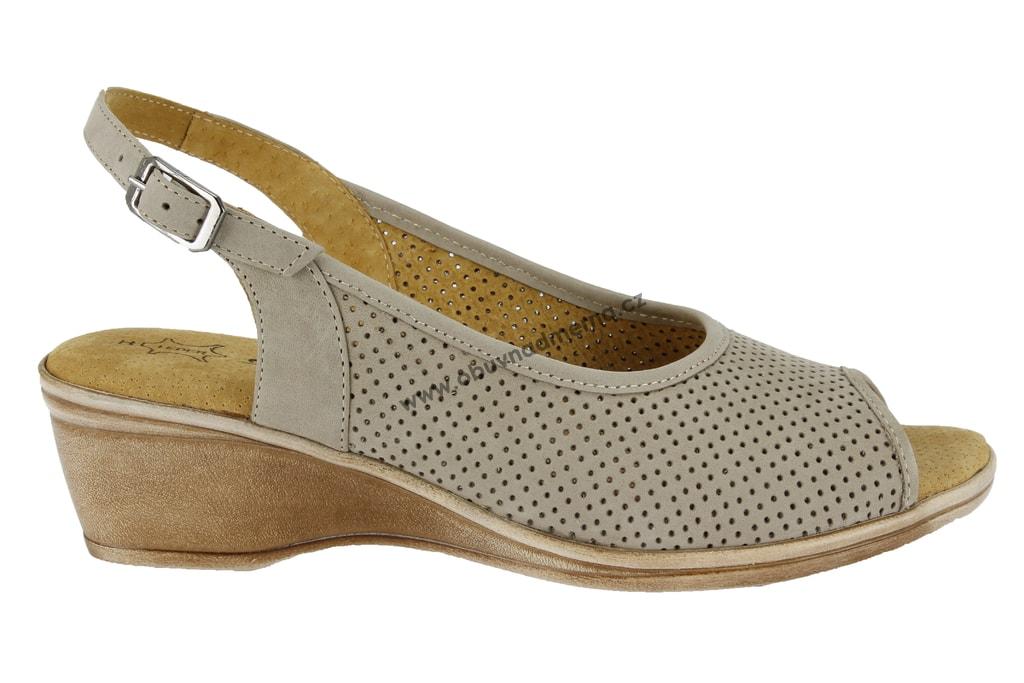 Široké sandály Axel béžové AX2246. Rozšířené kožené dámské letní boty ... f22edb6bb5