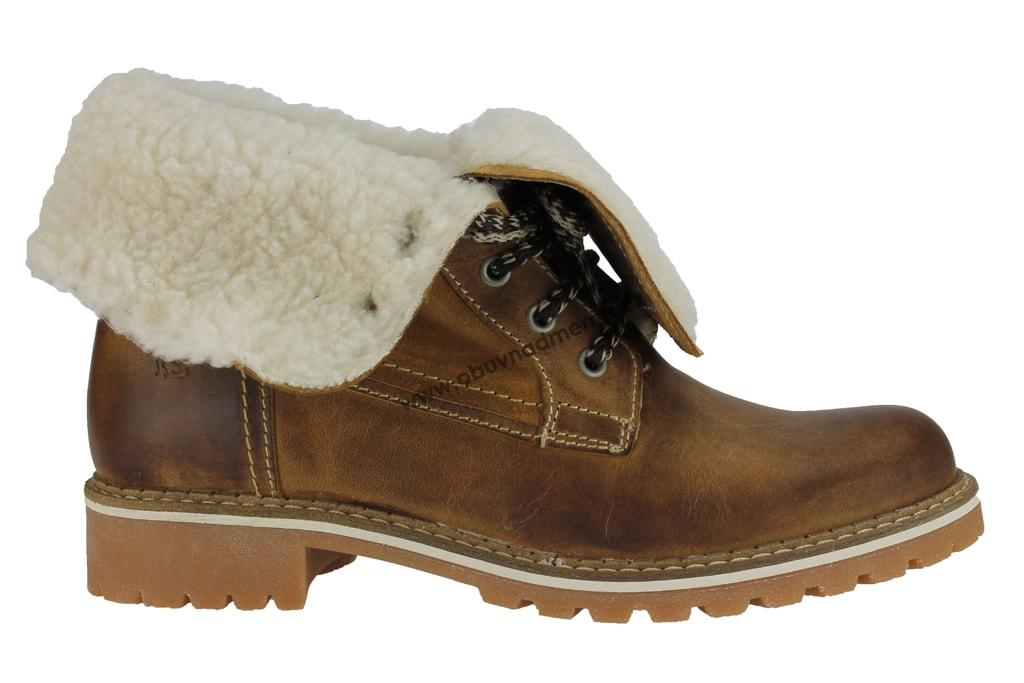 Nadměrné kotníkové boty Mustang cognac 2837-609-307 - Kotníkové ... 0b24a6c85c