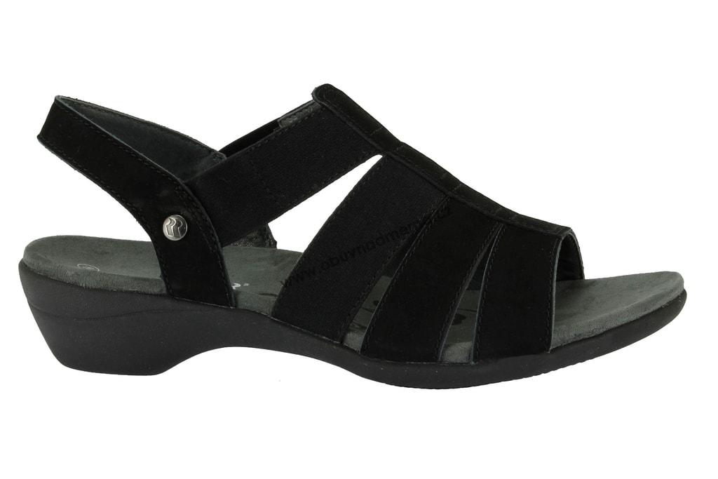 Páskové boty Romika černé - Sandály e8886dffab