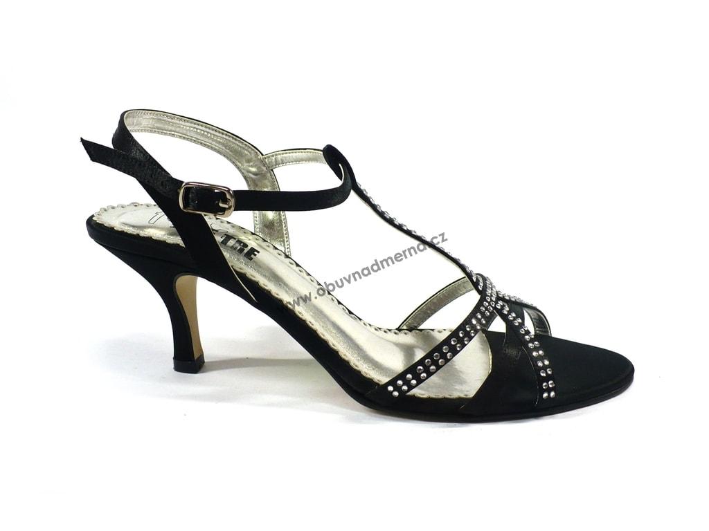 5aeaae0e87c Společenská obuv Effe Tre černá - Sandály