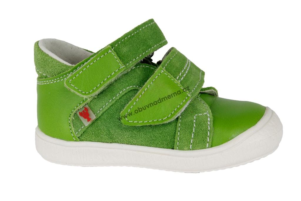 Dětské boty RAK na suchý zip zelená. Kvalitní dětská obuv. Certifikát Žirafa  ... 19e7513420