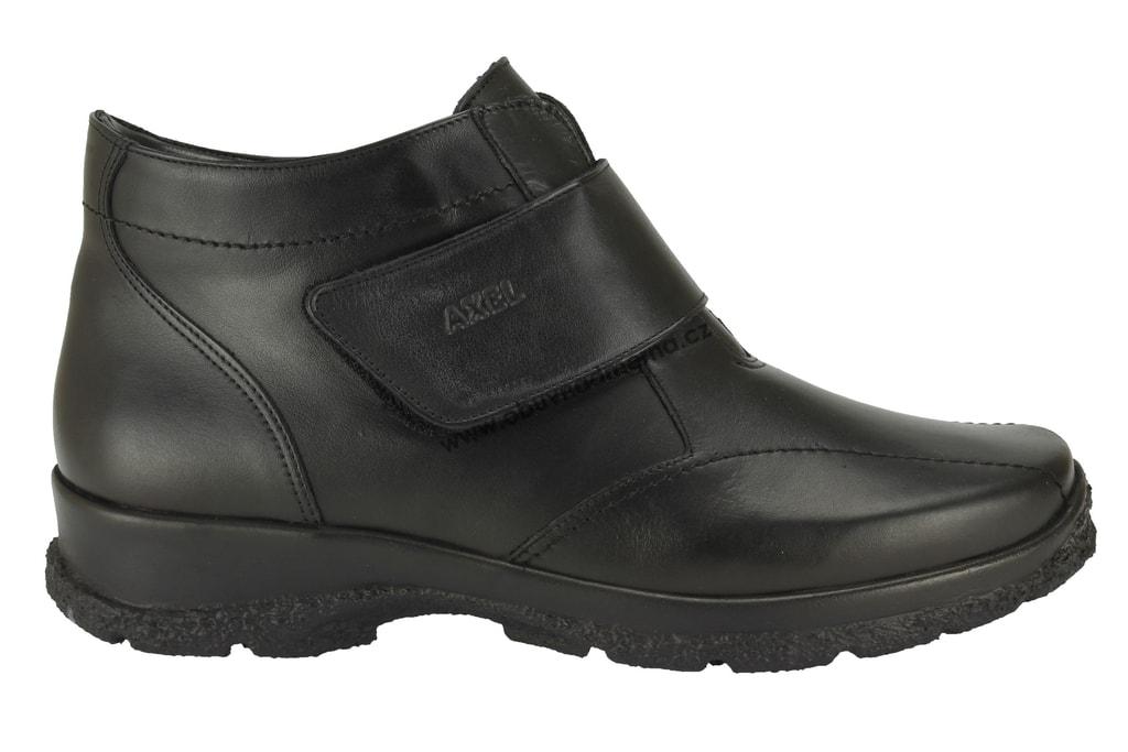 e783a9af9a5 Kotníkové zimní boty Axel černé AX4120 - Kotníkové