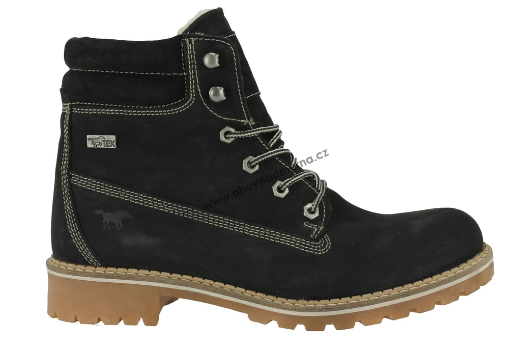 6f2358f85ce Nadměrné kotníkové boty Mustang černé 2837-604-9 - Zimní