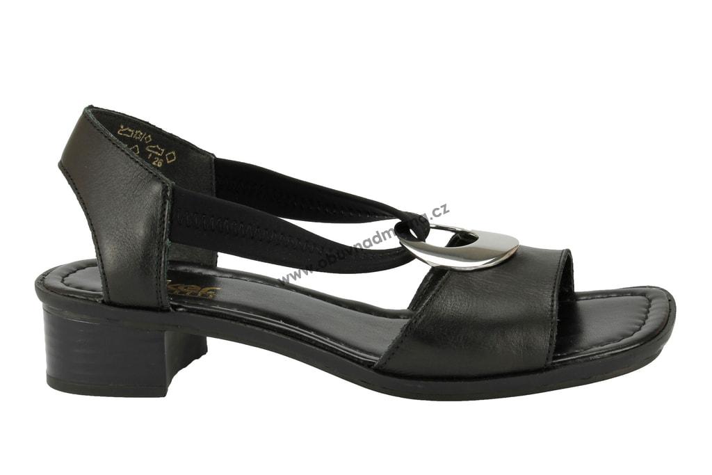 Páskové boty Rieker černé 62662-01 - Sandály 524568b6e8