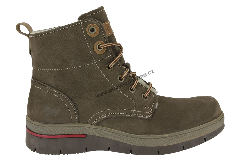 Kotníkové boty Weinbrenner hnědé 556-43216.6. Kožená dámská zimní obuv ... 57cc926a02