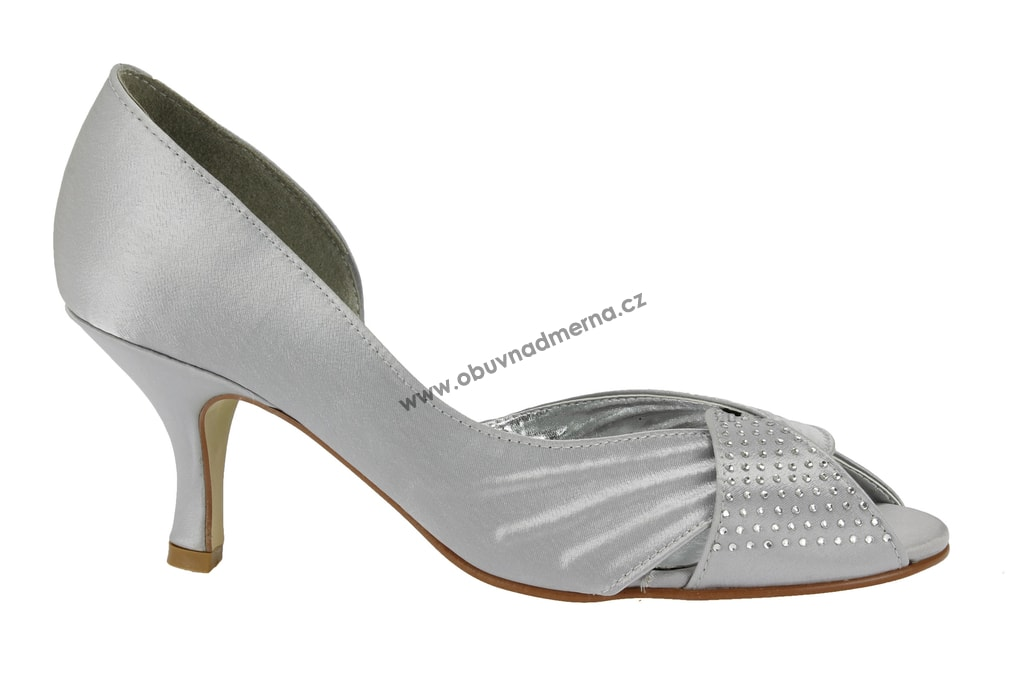 Společenské boty Effe Tre stříbrné - Lodičky 6ff102f6c5
