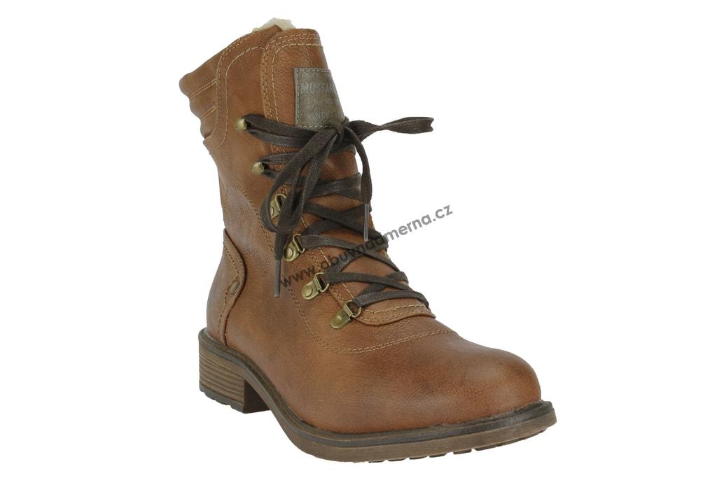 Nadměrné kotníkové boty Mustang kastanie 1264-607-301 - Kotníkové ... 887e55f54d