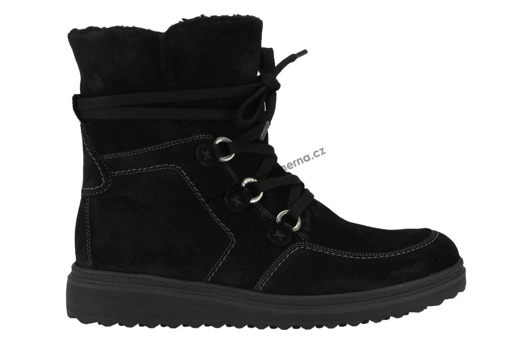 Nadměrné kotníkové boty Gabor černé 93.801.77 - Kotníkové b4e46ec5a4