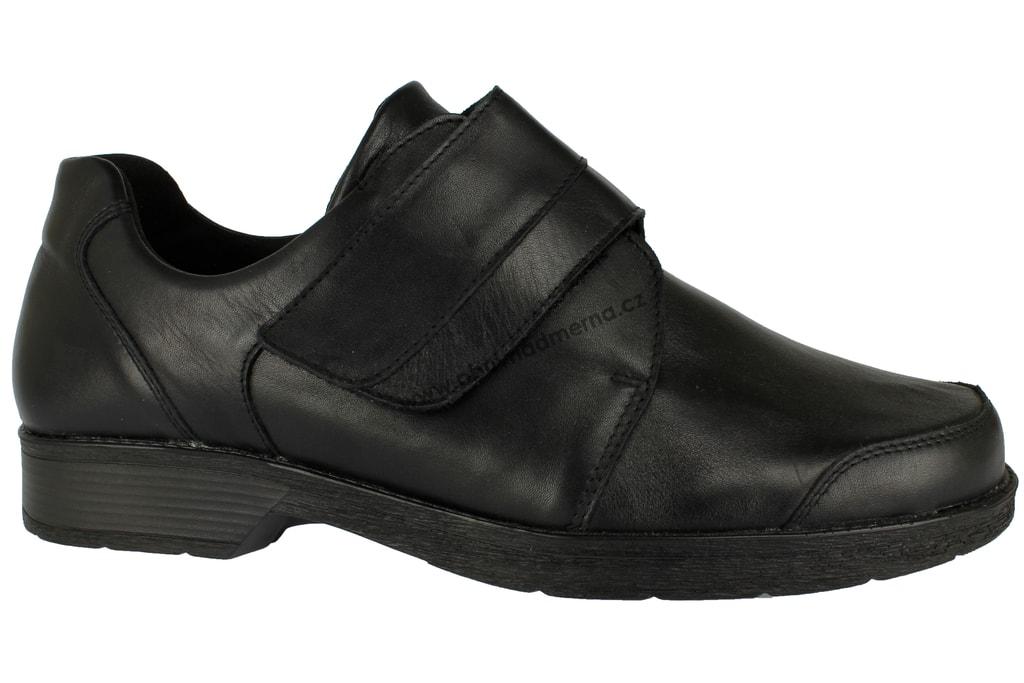 Nadměrná ortopedická obuv Leonshoes šíře K černá - Polobotky f6a584e6ba6