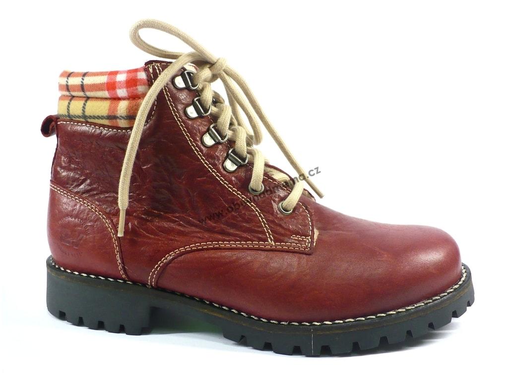ea0a67595fb Kotníková zimní obuv Weinbrenner červená - Kotníkové