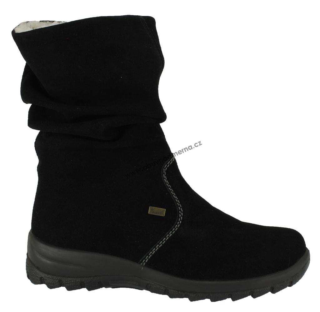 7234c15c39bb Kozačky Rieker černé Z7171-01. Dámské zimní boty ...