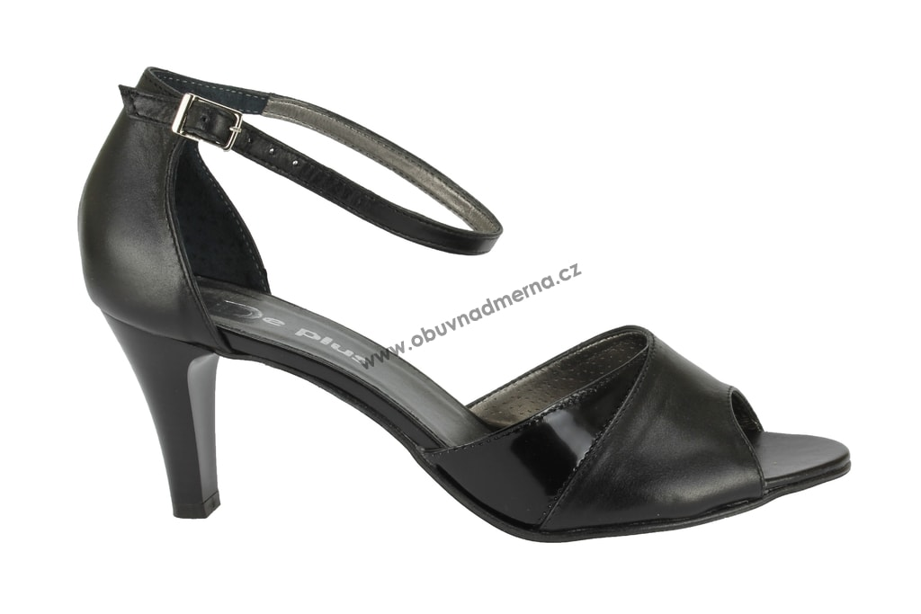 Nadměrné páskové boty De Plus černé 9589 - Sandály b3789ad6b7