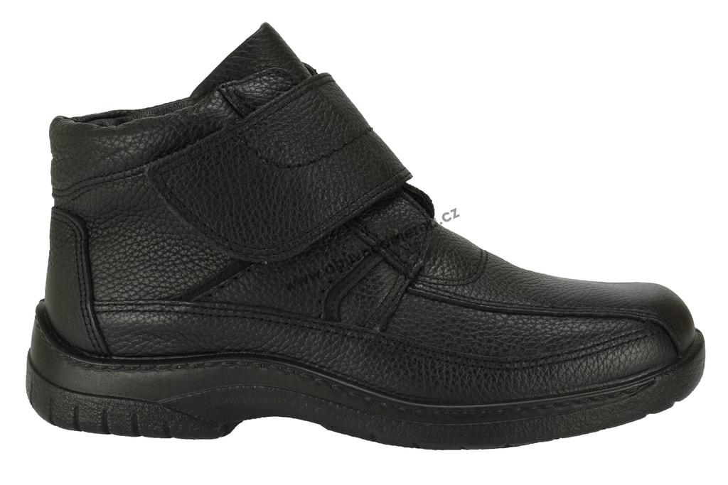 Nadměrná kotníková zimní obuv Jomos zateplená ovčí vlnou černá ... 6e9c13284b