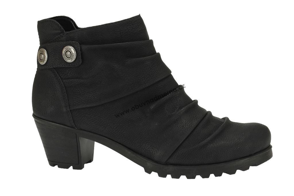 e1605e0873d Zimní boty Rieker černé. Kotníkové ...
