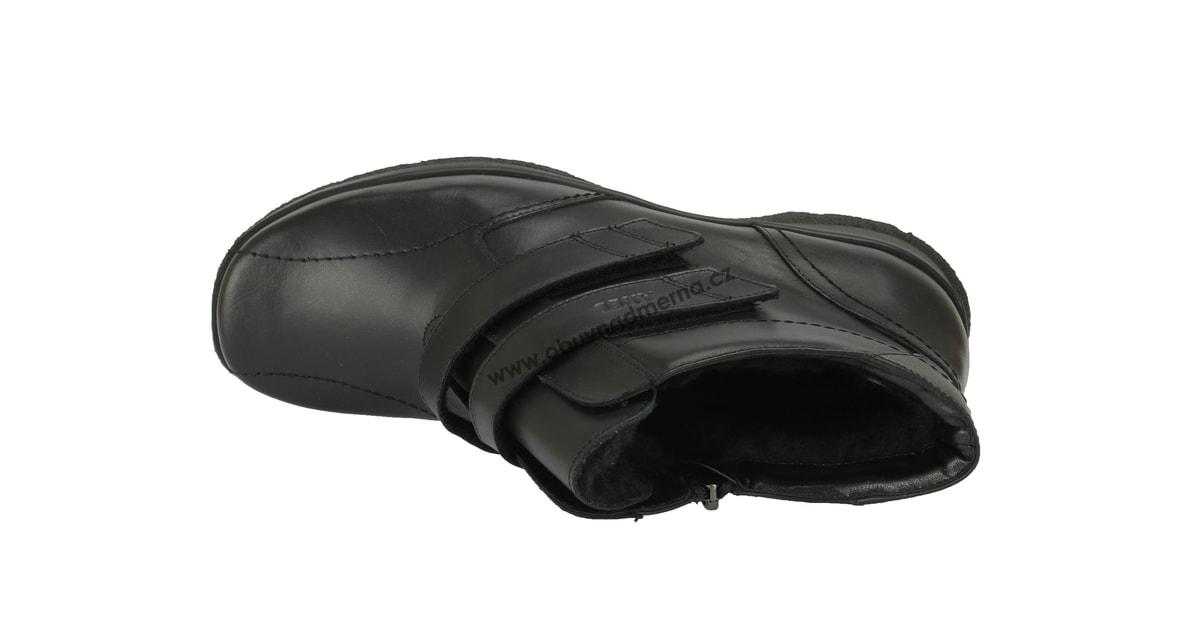 b3186bbf655 Kotníkové zimní boty Axel šíře H černé - Kotníkové