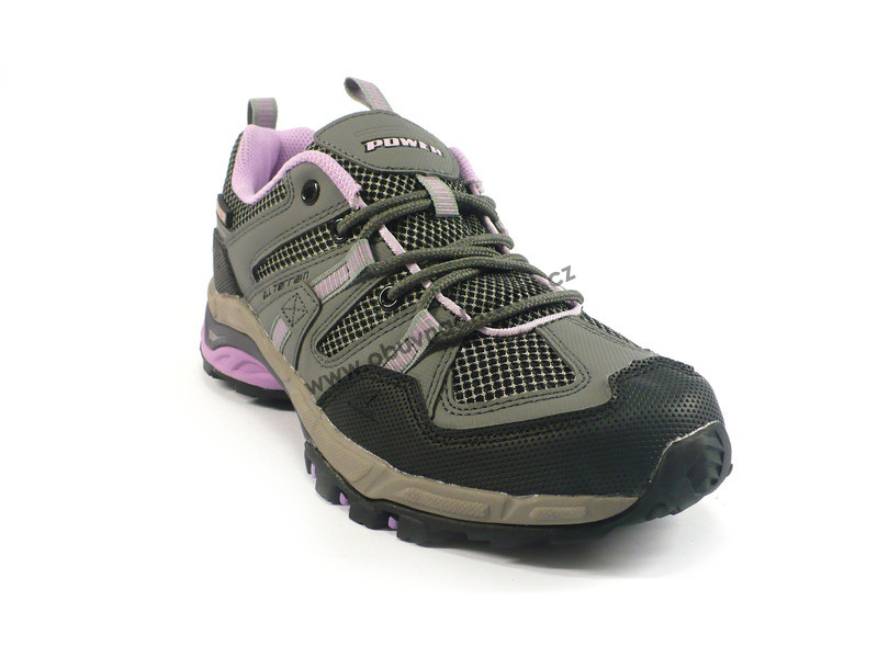 Sportovní boty Power Scree šedo-růžové - Sportovní 3fac2ca2d6