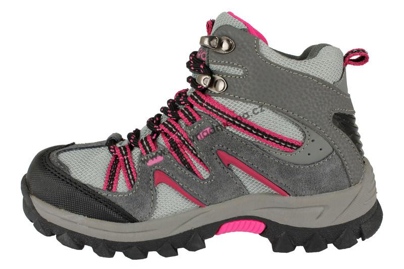 8f57cdcaa6e Dětská kotníková zimní obuv Bugga šedo-růžová - Zimní
