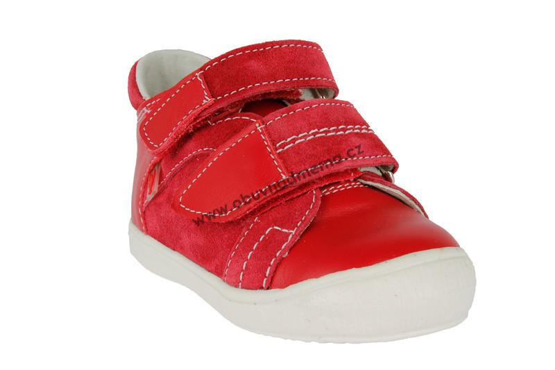 Dětské boty RAK Laura na suchý zip červené 0207-1 - Jarní podzimní ... e16363d826