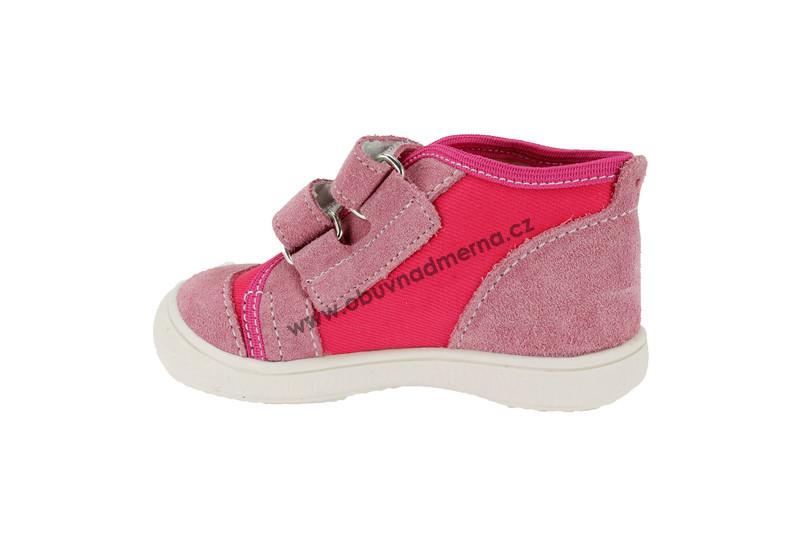 Dětské boty RAK na suchý zip růžové - Jarní podzimní 06eb5b9b44