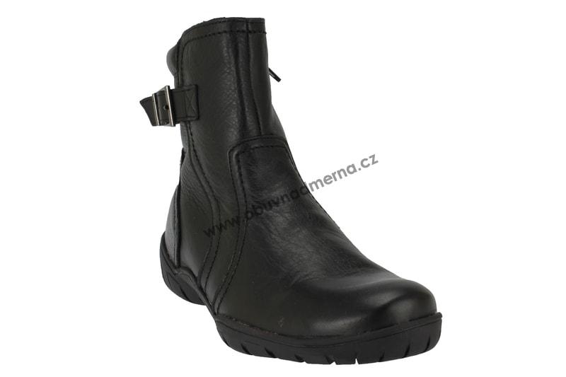 3ec06b4e824 Kotníkové zimní boty Baťa černé - Kotníkové
