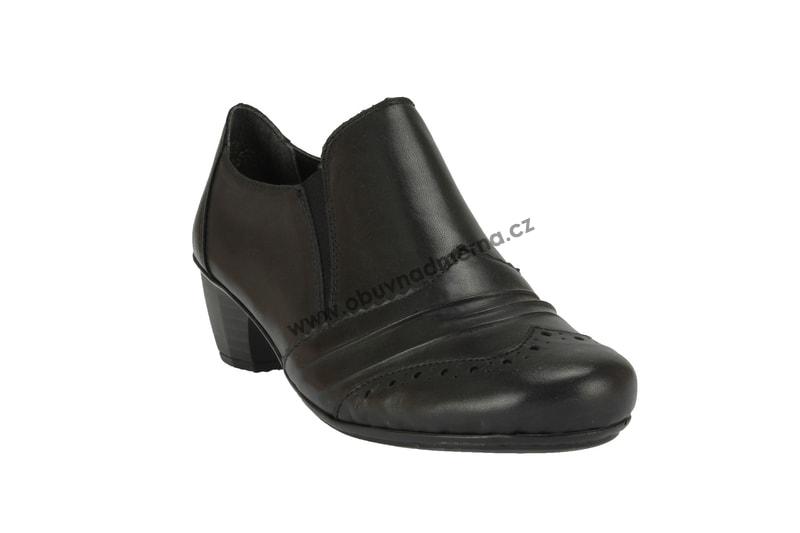 Boty Rieker na podpatku černé - Polobotky f0c4154296
