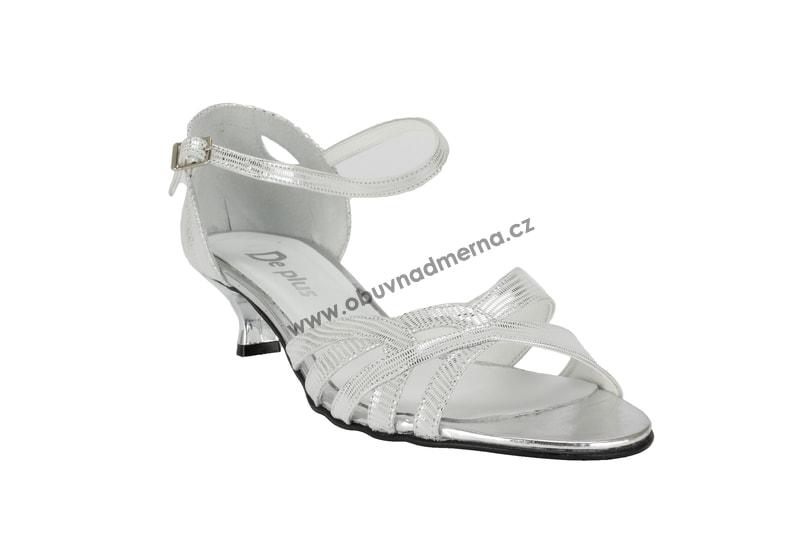 Nadměrné páskové boty De Plus stříbrné - Páskové 989d4d45d0
