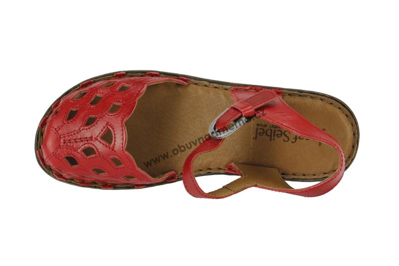 Páskové boty Josef Seibel Rebecca 17 červené 62917 43 019 - Sandály ... f0b540c45a