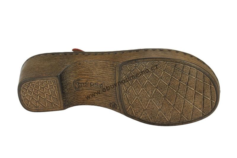 Páskové boty Josef Seibel Rebecca 17 červené 62917 43 019 - Sandály ... 194033d6e4
