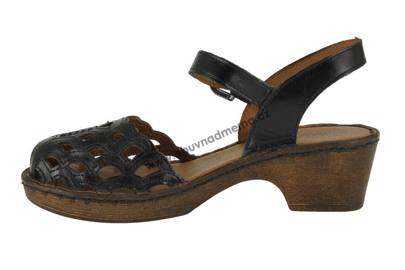 Páskové boty Josef Seibel Rebecca 17 černé 62917 43 600 - Sandály ... 65bbead527