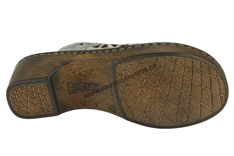 Pantofle na klínu Rebecca 43 šedé 62943 762 032 - Pantofle b172d85800
