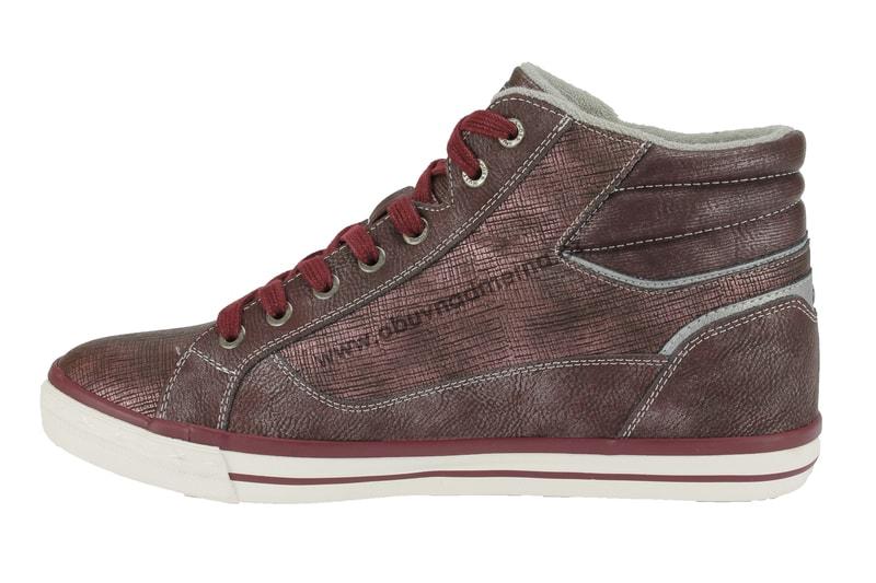 Nadměrné kotníkové boty Mustang bordeaux 1146-516-55 - Kotníkové ... 45b904026e